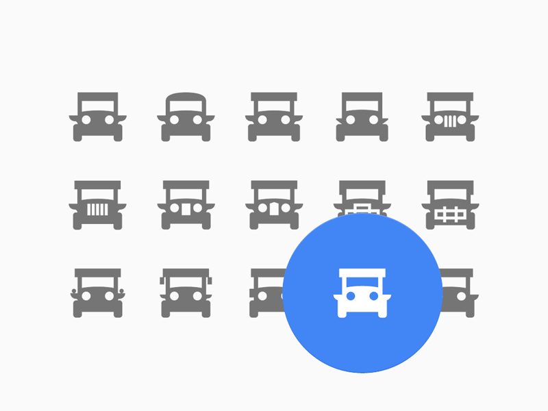 Local transportation icon set