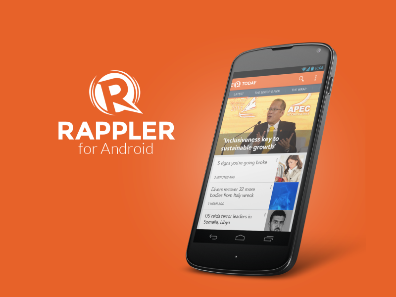 Rappler for Android UI concept